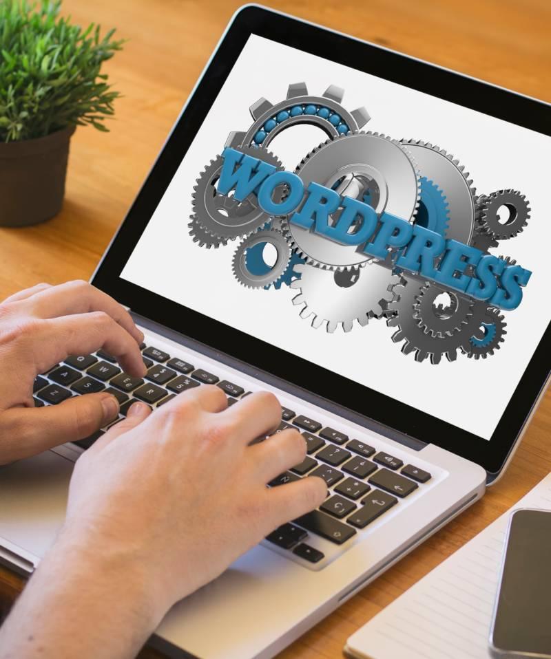 wordpress on computer screen
